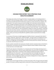 Strategic Plan Executive Summary - Chicago Park District