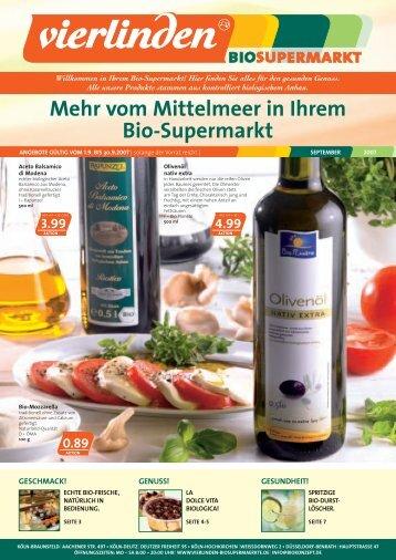 Mehr vom Mittelmeer in Ihrem Bio-Supermarkt