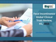 Global Fecal Incontinence Clinical Trials Review, H1, 2015