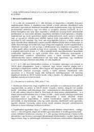 A 7. cikk szövegmagyarázatának magyar fordítása