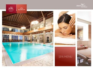 Meniu Spa - Ana Hotels