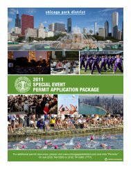 2011 special event permit application package - Chicago Park District