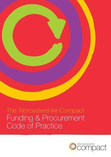 Funding & Procurement Code of Practice - Worcestershire Partnership