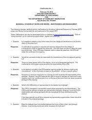 Clarification No. 1 February 14, 2012 CHICAGO PARK DISTRICT ...