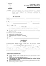 Regolarizzazione passo carrabile esistente - Comune di Tavagnacco