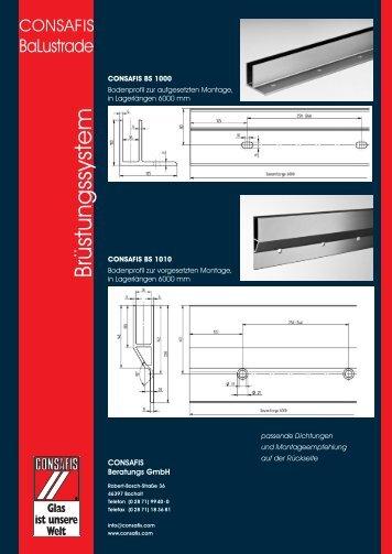 CONSAFIS Balustrade - Brüstungssystem