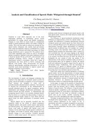 Analysis and Classification of Speech Mode: Whispered through ...