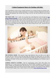 5 Infant Equipment Basics for Dealing with Baby