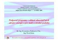 Podporné programy v oblasti obnoviteľných ... - biomasa-info.sk