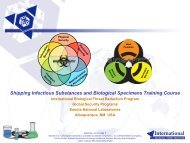 Shipping Infectious Substances and Biological Specimens Training