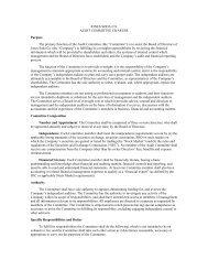 Audit Committee Charter - Jones Soda