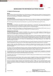 bedingungen für ärztebank electronic banking - Volksbank