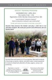 DOCENT TRAINING PROGRAM - The Ruth Bancroft Garden