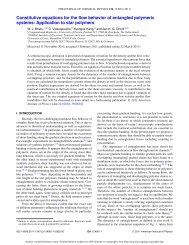 Constitutive equations for the flow behavior of entangled polymeric ...