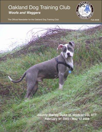 Fall 2008 Newsletter - Oakland Dog Training Club