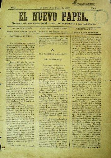 El Nuevo Papel del 16 de enero de 1887