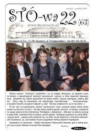 więcej w STÓ-wie - Społeczna Szkoła Podstawowa Nr 1 STO ...