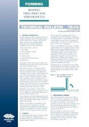 TECHNICAL BULLETIN TB-F4 FORMING - BlueScope Steel