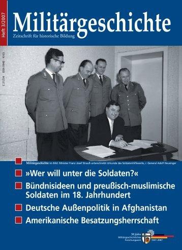 Militärgeschichte - Militärgeschichtliches Forschungsamt der ...