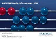HORIZONT Media-Informationen 2008 - Isler Annoncen AG