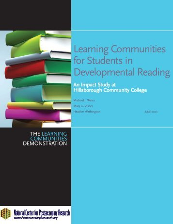 Learning Communities for Students in Developmental Reading