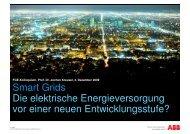 Smart Grids - Energieversorgung vor einer neuen ... - FGE