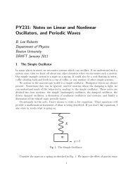 PY231 - Boston University Physics Department.
