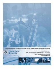 Assessing Video Quality for Public safety Applications Using Visual ...