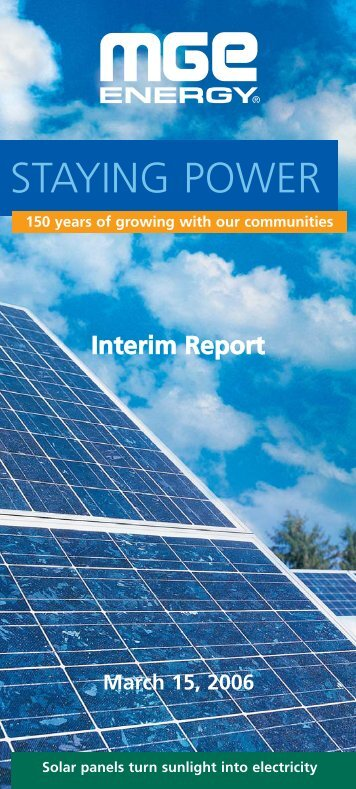 MGE Energy Interim Report - March 2006