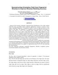 Reconstructing Orientation Field from Fingerprint Minutiae to ... - e-JST