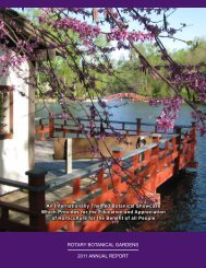 2011 Annual Report - Rotary Botanical Gardens