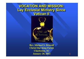 PDF of presentation - Christ Our King Catholic Church