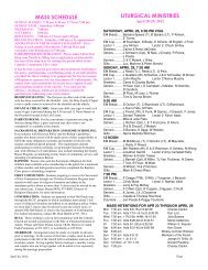 Bulletin Pages - Christ Our King Catholic Church