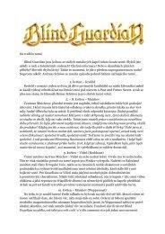 Na tvrdém turné Blind Guardian jsou jednou ze ... - Milan Škoda