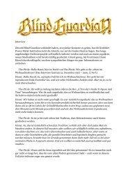 Interview Obwohl Blind Guardian verkündet haben, 2013 keine ...