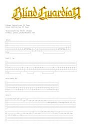 Album: Battalions Of Fear Song: Battalions Of Fear Transcribed by ...