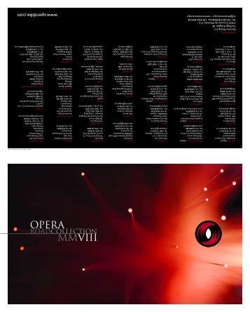 Catalogo opera 2008