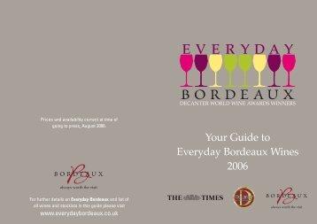 Download PDF of entire list - Bordeaux Wines