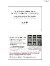 LOUIS SULLIVAN: Father of Modern Architecture - INAR323
