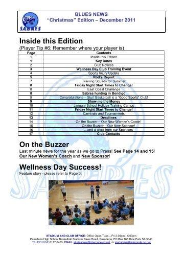 December 2011 - Sturt Sabres Basketball Club