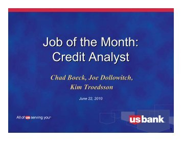 Credit Analyst - US Bank