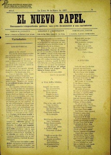 El Nuevo Papel del 30 de enero de 1887
