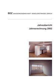 Jahresbericht Jahresrechnung 2002 - BDZ