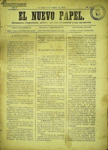 El Nuevo Papel del 03 de febrero de 1887