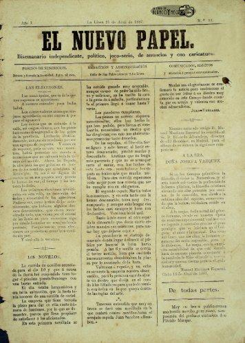 El Nuevo Papel del 21 de Abril de 1887