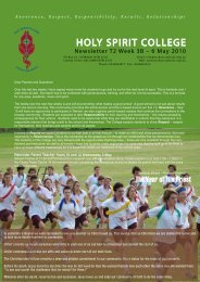uNIfORM ShOP - Holy Spirit College