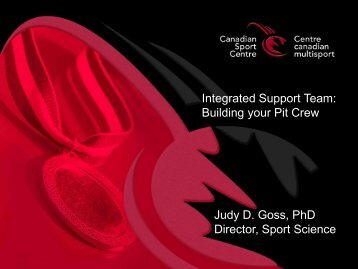 Integrated Support Team: Building your Pit Crew ... - Swim Ontario