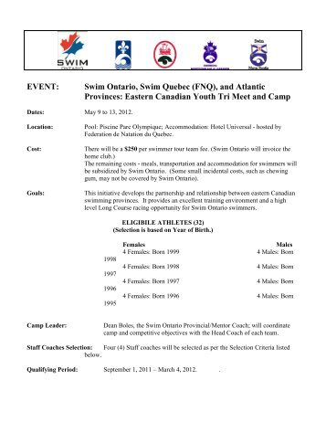 Information - Swim Ontario