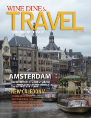 WINE DINE & TRAVEL MAGAZINE FALL 2013