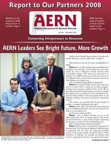 2008 Annual Report - Alabama Entrepreneurial Research Network